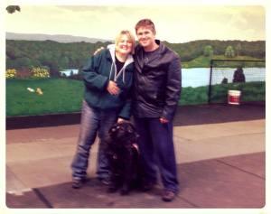 Wade and Canada's Dog Trainer Jill Priest and her Bull Mastiff Bohdrane
